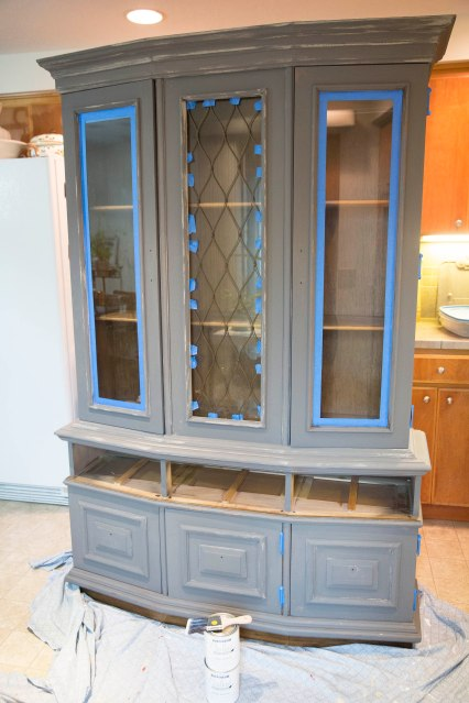 Finds and Dines Hutch Refinish 10