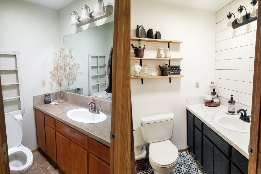 Finds and Dines DIY Bathroom Renovation Reveal 4