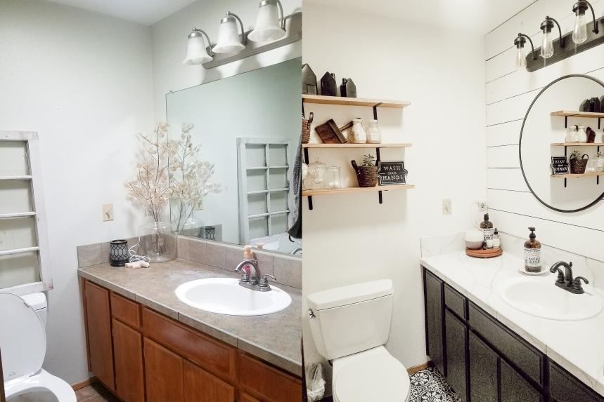 Finds and Dines DIY Bathroom Renovation Reveal 1
