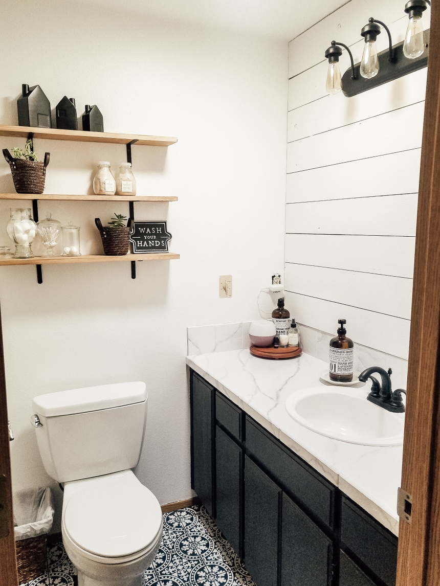 Finds and Dines DIY Chalk Painted Bathroom Cabinets (4)