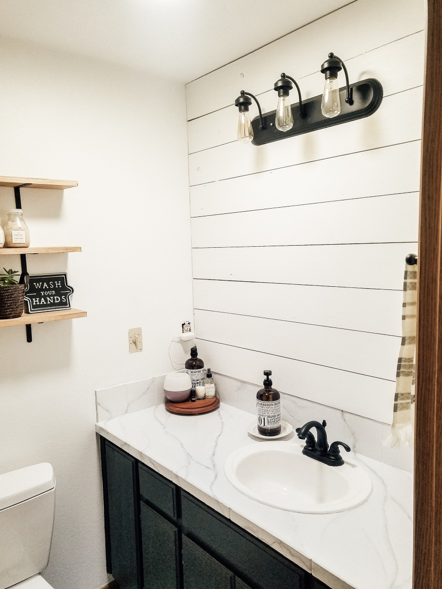 Finds and Dines DIY Shiplap Accent Wall (6)