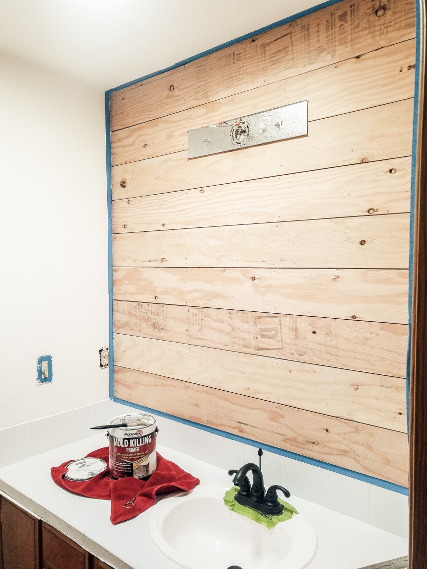 Finds and Dines DIY Shiplap Accent Wall (2)