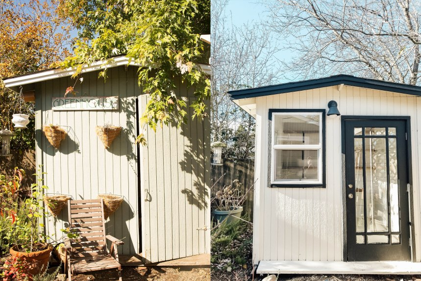 She Shed Before and After Exterior