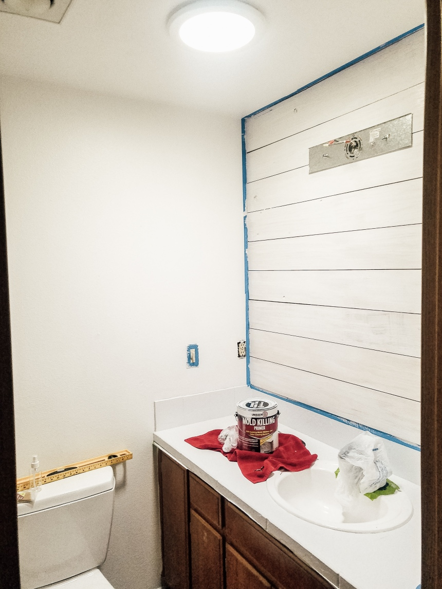 Finds and Dines DIY Shiplap Accent Wall (3)